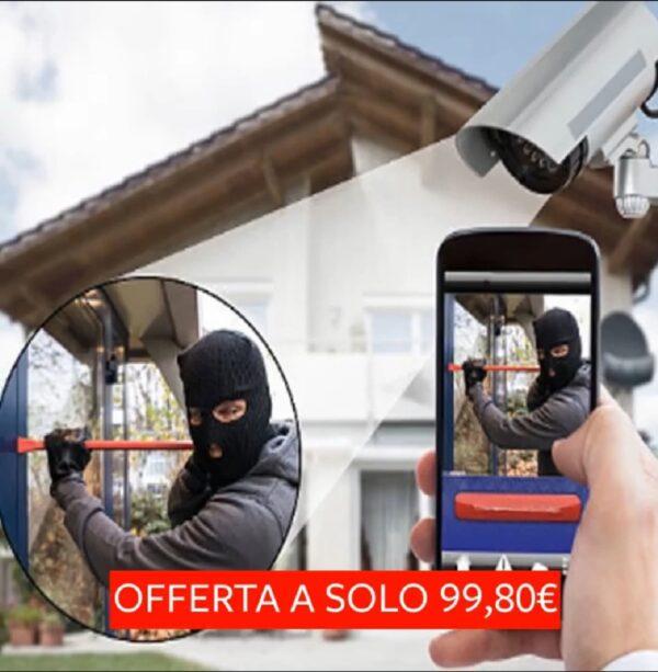 Kit Videosorveglianza Full Hd 1080p Cctv 4 Telecamere 4 Canali