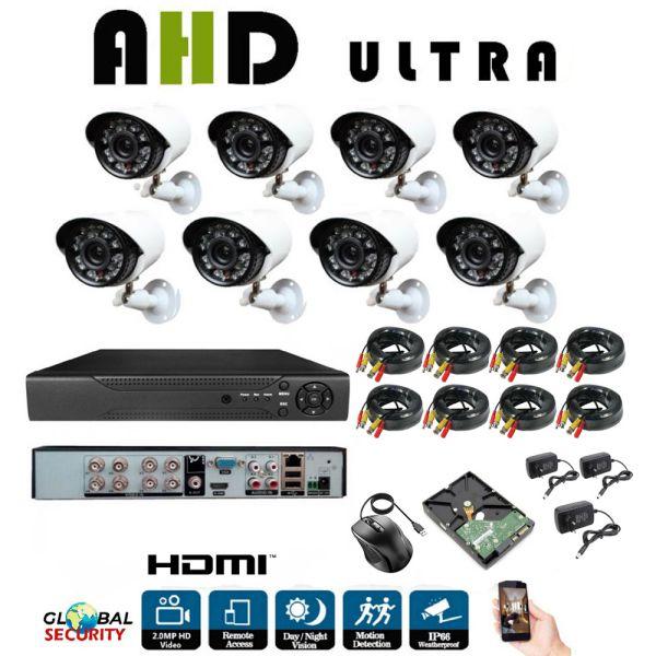 Kit Videosorveglianza Full Hd 1080p Ahd 8 Telecamere 8 Canali