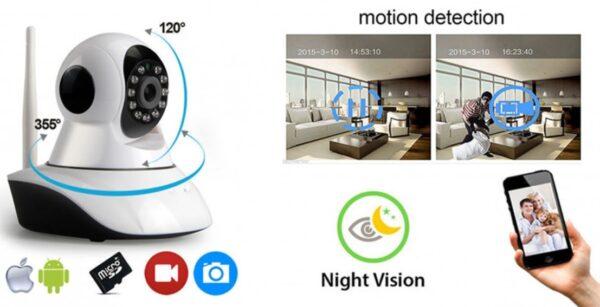 Telecamera Ip Cam Wireless Motorizzata Smart Camera Wi-Fi